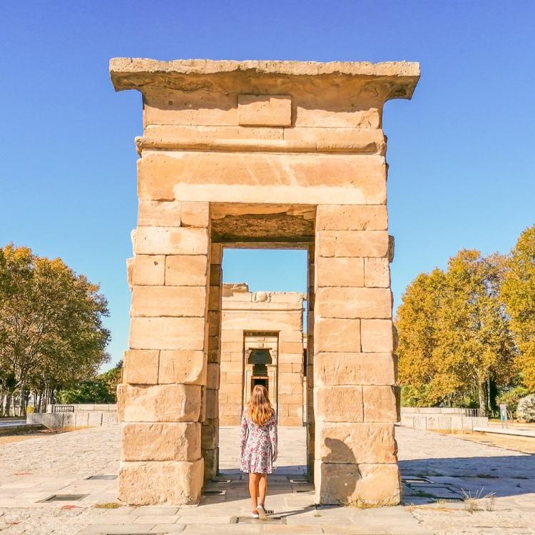 templo de debod lugares instagrameables madrid viajera cinefila